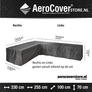 aerocover loungesethoes L-vorm met ongelijke zijden